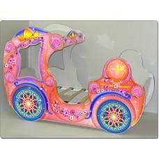 """Кровать карета """"Принцесса"""" розовая"""