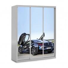 Шкаф купе в детскую с фотопечатью BMW I8 Бесплатная доставка!