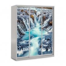 Шкаф купе в детскую с фотопечатью Водопад