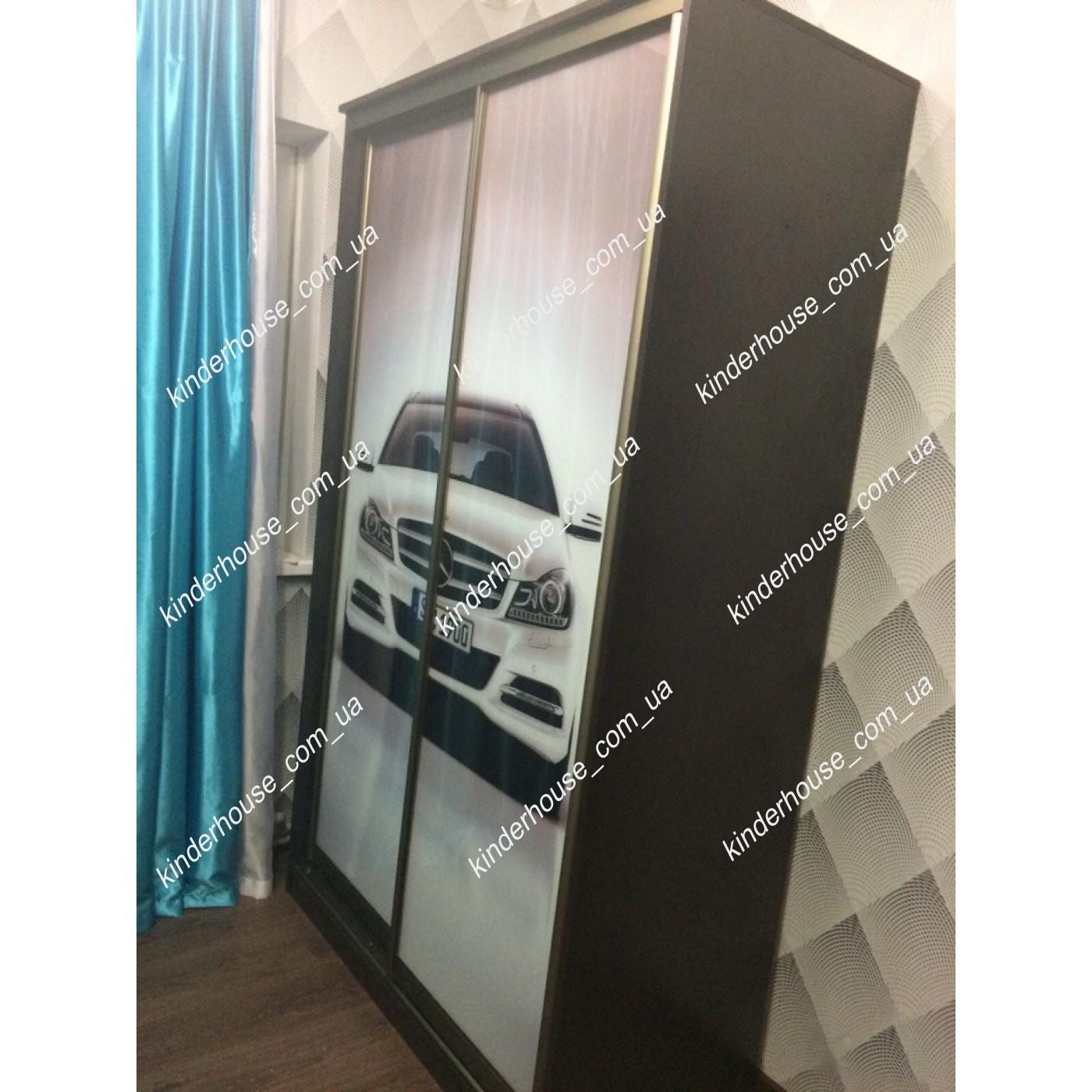 Шкаф купе в детскую с фотопринтом БМВ I8
