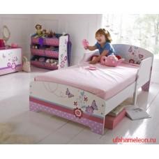 Кровать для девочки Бабочки - 2