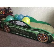 Кровать машина AUDI NEW зеленая Номер с именем в подарок!