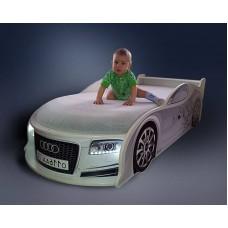 Кровать машина AUDI белая! Номер с именем в подарок!