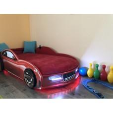 Кровать машина AUDI NEW красная Номер с именем в подарок!