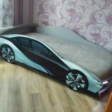Кровать машина БМВ I8 серая + Подарок!