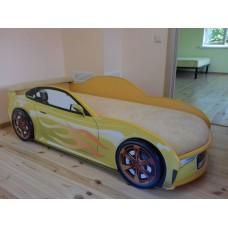 Кровать машина AUDI NEW желтая Номер с именем в подарок!
