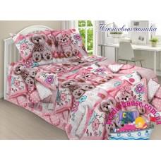 Детское постельное белье 3Д для девочки Плюшевый мишка