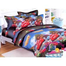 Детское постельное белье 3Д для мальчика Тачки