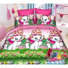 Детское постельное белье 3Д для девочки Кошка Мари