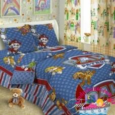 Детское постельное белье 1.5-спальное  для мальчика Щенячий Патруль