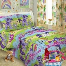 Детское постельное белье 1,5-спальное для девочки Пони