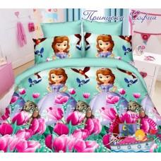 Детское постельное белье 3Д для девочки Принцесса София 1