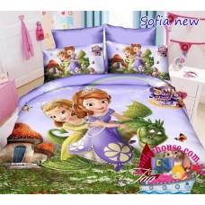 Детское постельное белье 3Д для девочки Принцесса София