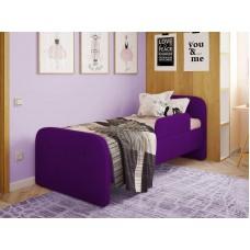 Детская кровать мягкая Тедди фиолетовая Бесплатная доставка!