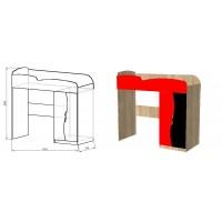Кровать-чердак модульная  Тинейджер Ferrary для мальчика