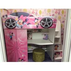 Кровать чердак для девочки Минни Маус