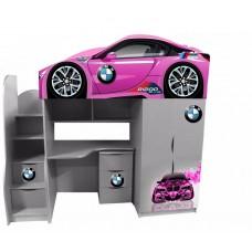 Кровать чердак для девочки БМВ