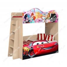 Двухъярусная кровать Тачки Маквин + Принцессы