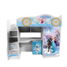 Кровать чердак для девочки FROZEN Холодное сердце