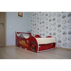 Детская кровать-машина для мальчика Маквин красная