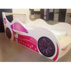 Детская кровать-машина для девочки Китти