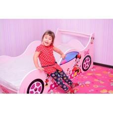 Детская кровать-машина для девочки Минни