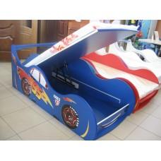 Детская кровать-машина для мальчика Маквин синяя