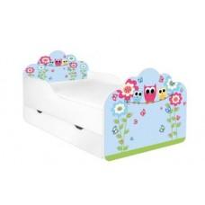 Кровать с матрасом для девочки Совы голубая POLA Бесплатная доставка! АКЦИЯ