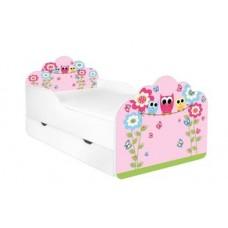 Кровать с матрасом для девочки Совы розовая POLA Бесплатная доставка! АКЦИЯ