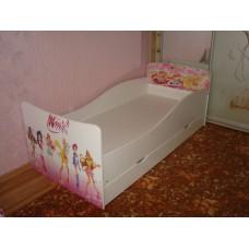 Детская кровать для девочки WINX Kinder