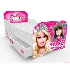 Детская кровать с бортами  Барби с фотопортретом ребенка!