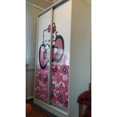 Шкаф купе с фотопринтом Hello Kitty
