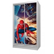 Шкаф купе в детскую с фотопринтом Spidermen