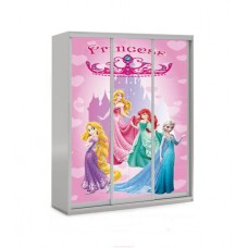 Шкаф купе в детскую с фотопринтом Принцессы