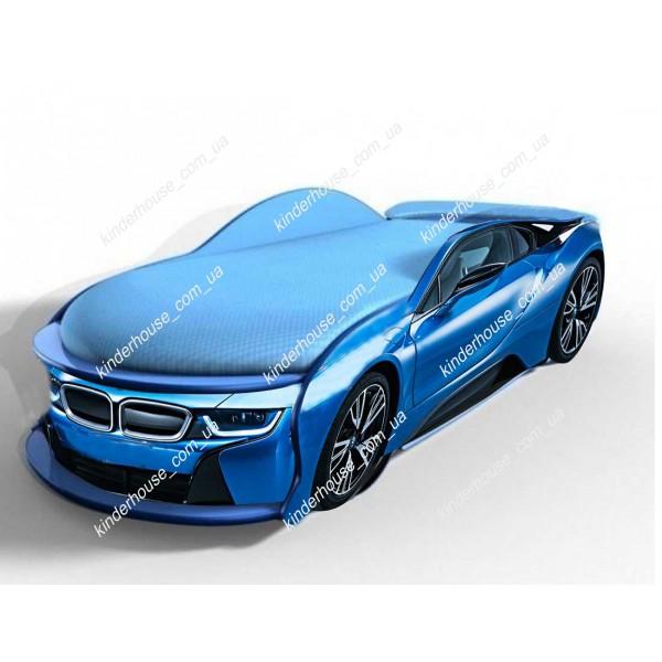 Кровать машина БМВ синяя