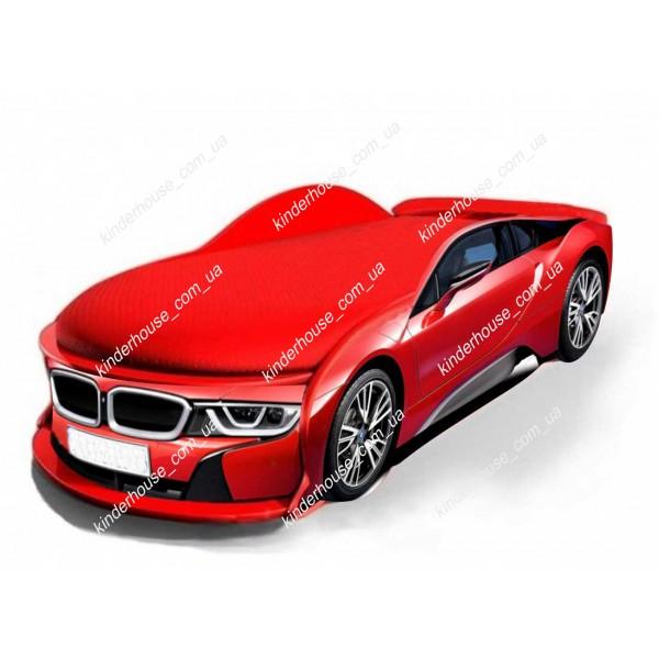 Кровать машина БМВ красная BMW I8